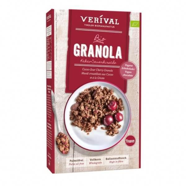 Verival Kakao-Sauerkirsche Granola