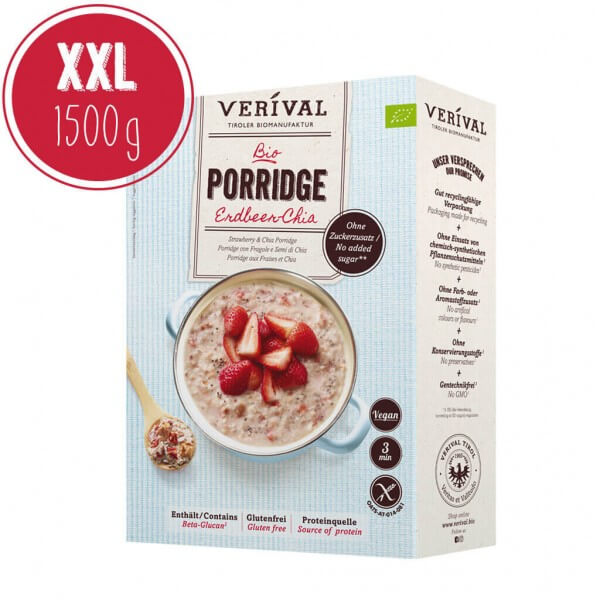 Verival Strawberry-Chia Porridge 1500g