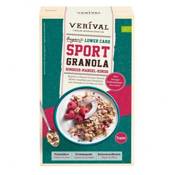 Lower Carb Sport Granola Raspberry-Almond-Coconut Granola