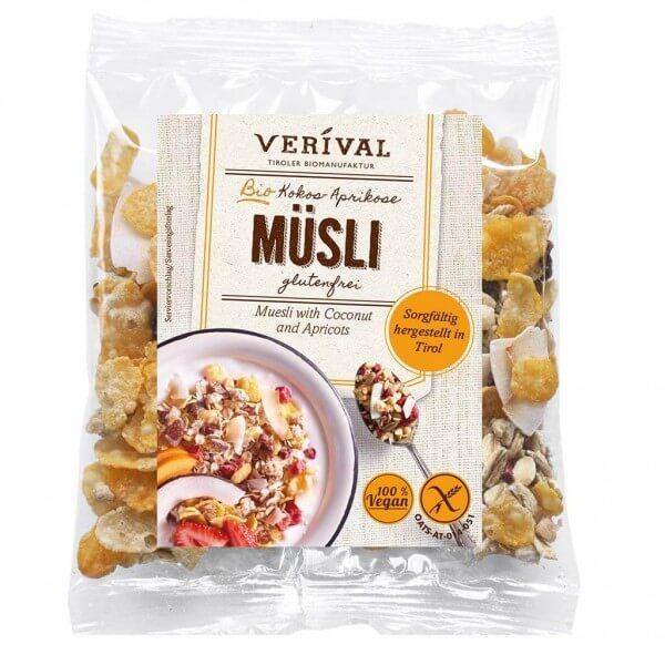 Verival Muesli à la noix de coco et abricots 40g