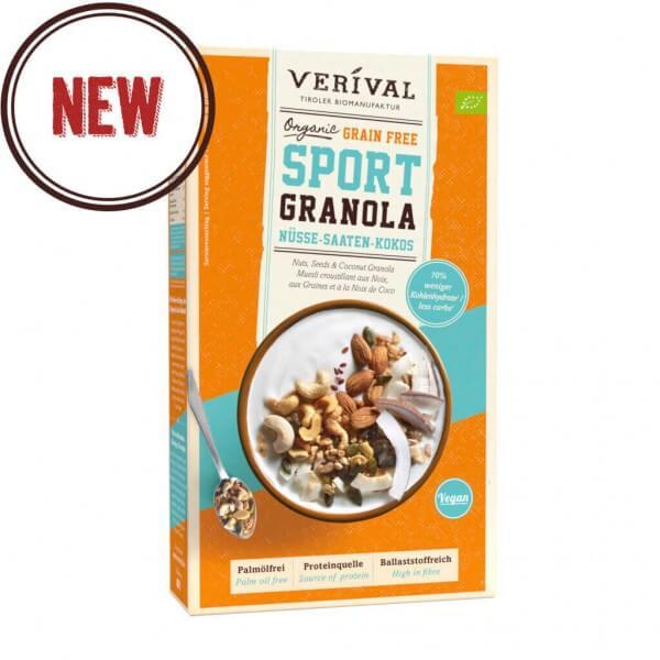 Sport granola aux noix, aux graines et à la noix de coco sans céréales