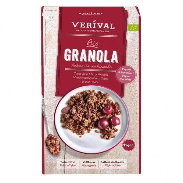 Verival Cacao-Sour Cherry Granola