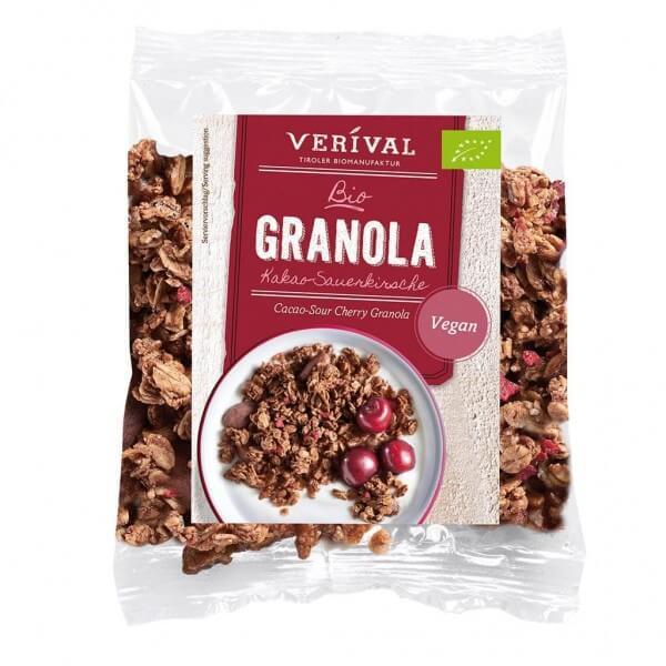 Verival Cacao-Sour Cherry Granola 45g